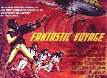 Fantastic voyage movie poster. In the movie, scientist shrink to enter and explore the body. Through the tool of animation, we can go on a journey inside the human body.