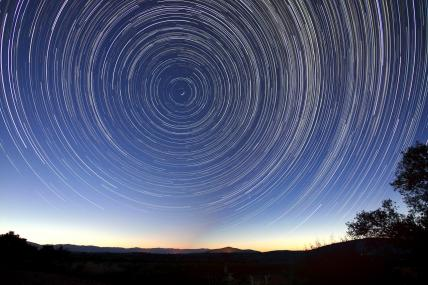 time-lapse photo of star trails